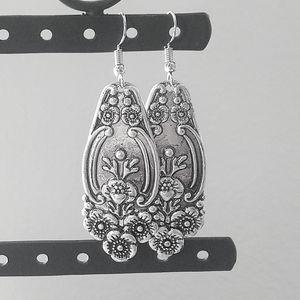 Silver Spoon Handle Earrings
